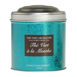 """Té """"Vert à la Menthe"""" a granel en bote metálico de 80 gr"""