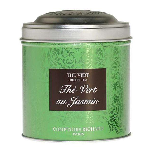 """Té """"Vert au Jasmin"""" a granel. Bote metálico de 100 gr"""