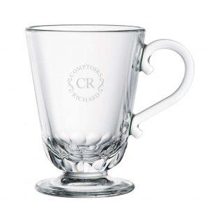 Taza de cristal con logo CR
