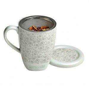 Taza de porcelana con filtro