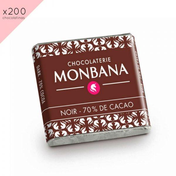 Chocolatinas 70% Cacao (200ud)